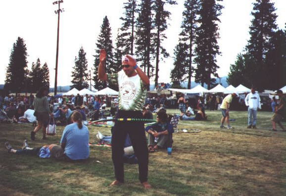 Learning to Hula at the High Sierra Music Festival - Click here to see full-size image